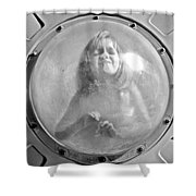 The Girl In The Bubble Shower Curtain