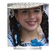 The Girl With The Panama Hat Shower Curtain