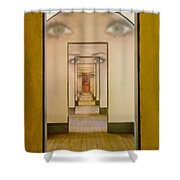 The Girl With Far Away Eyes Shower Curtain