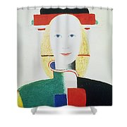 The Girl With The Hat Shower Curtain