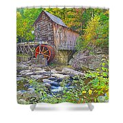The Glade Grist Mill Shower Curtain