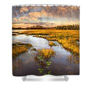 The Glades At Sunset Shower Curtain