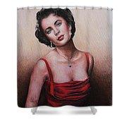 The Glamour Days Elizabeth Taylor Shower Curtain