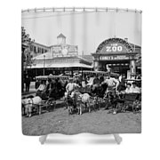 The Goat Carriages Coney Island 1900 Shower Curtain