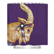 The Goat Who Likes Purple Shower Curtain