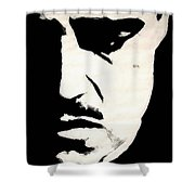 The Godfather Shower Curtain by Dale Loos Jr