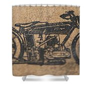 The Gold Medal Motorcycle 1925 Shower Curtain
