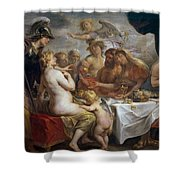 The Golden Apple Of Discord Shower Curtain