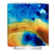 The Golden Gate - Abstract Art By Sharon Cummings Shower Curtain