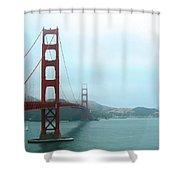 The Golden Gate Bridge And San Francisco Bay Shower Curtain