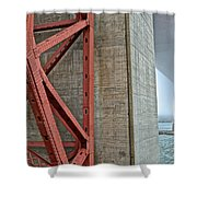 The Golden Gate - Fort Point View Shower Curtain