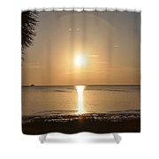 The Golden Gulf Coast Shower Curtain