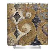 The Golden Ornaments Shower Curtain