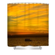 The Golden Sky That Mesmerize  Shower Curtain