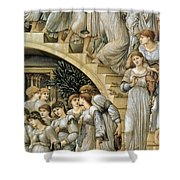 The Golden Stairs Shower Curtain