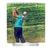 The Golf Swing Shower Curtain