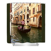 The Gondolier Shower Curtain