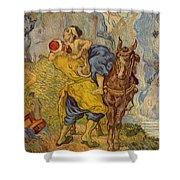 The Good Samaritan - After Delacroix Shower Curtain