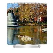 The Goodale Park  Fountain Shower Curtain