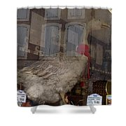 The Humorous Goose Shower Curtain by France  Art