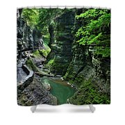 The Gorge Trail Shower Curtain