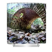 The Gorge Trail Stone Bridge Shower Curtain