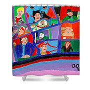 The Gotham Bunch Shower Curtain
