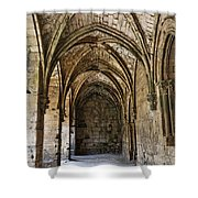 The Gothic Cloisters Inside The Crusader Castle Of Krak Des Chevaliers Syria Shower Curtain