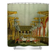 The Gothic Dining Room At Carlton House Shower Curtain