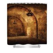 San Jose Mission Granary Shower Curtain
