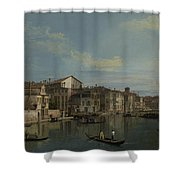 The Grand Canal In Venice Shower Curtain
