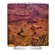 The Grand Canyon From Bright Angel Lodge Shower Curtain