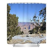 The Grand Canyon In January Shower Curtain