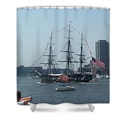 The Grand Old Dame Turns Shower Curtain