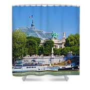 The Grand Palais And The Alexandre Bridge Paris Shower Curtain