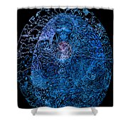 The Great Amma In Black Light Shower Curtain