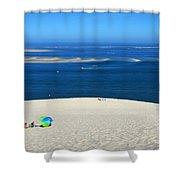 The Great Dune Of Pila In Arcachon Bay Shower Curtain