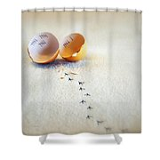 The Great Eggscape Shower Curtain