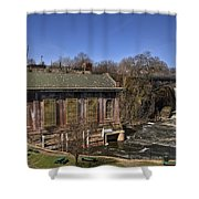 The Great Falls In Paterson Shower Curtain
