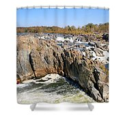 The Great Falls Of The Potomac Panorama Shower Curtain