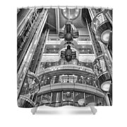 The Great Glass Elevators Shower Curtain
