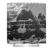 1m3752-bw-the Great North Face Of North Twin Shower Curtain