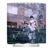 The Great Pitchers Best Hurlers Face Shower Curtain