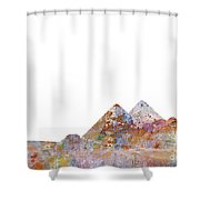 The Great Pyramids Colorsplash Shower Curtain