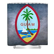 The Great Seal Of Guam Territory Of Usa  Shower Curtain