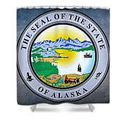 The Great Seal Of The State Of Alaska  Shower Curtain