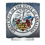 The Great Seal Of The State Of Arkansas Shower Curtain