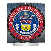 The Great Seal Of The State Of Colorado Shower Curtain
