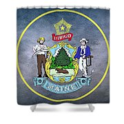 The Great Seal Of The State Of Maine  Shower Curtain