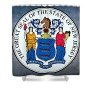 The Great Seal Of The State Of New Jersey Shower Curtain